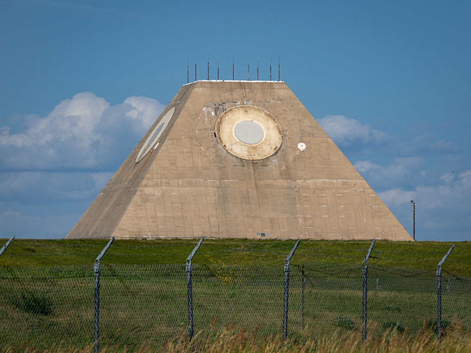 The Missile Site Radar (MSR), one component of the Stanley R. Mickelsen Safeguard Complex.