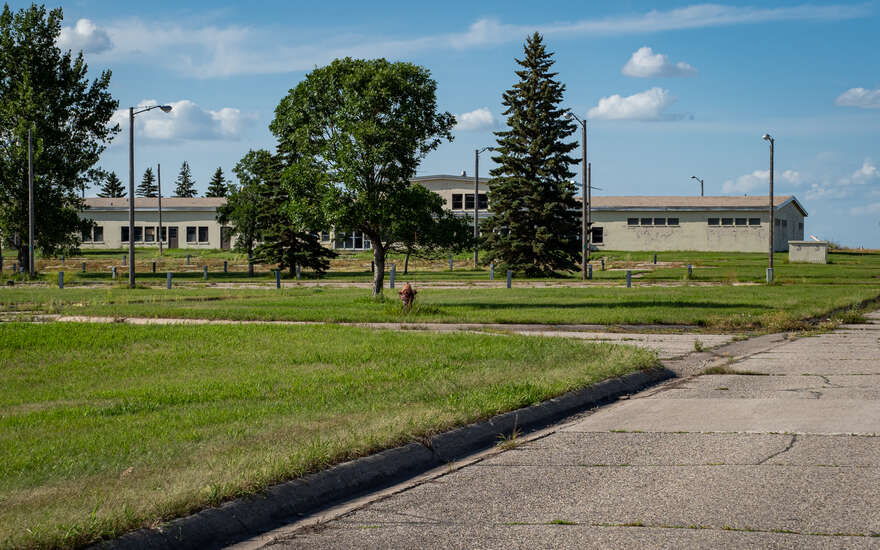 Administrative buildings near the Missile Site Radar sit unused and decaying.
