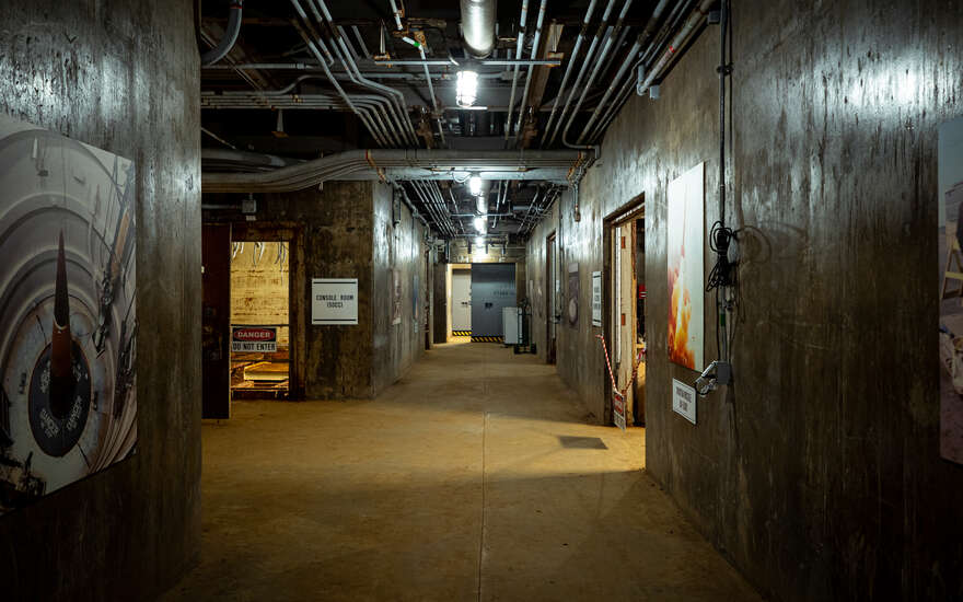 The main corridor in the RSL-3 underground bunker.