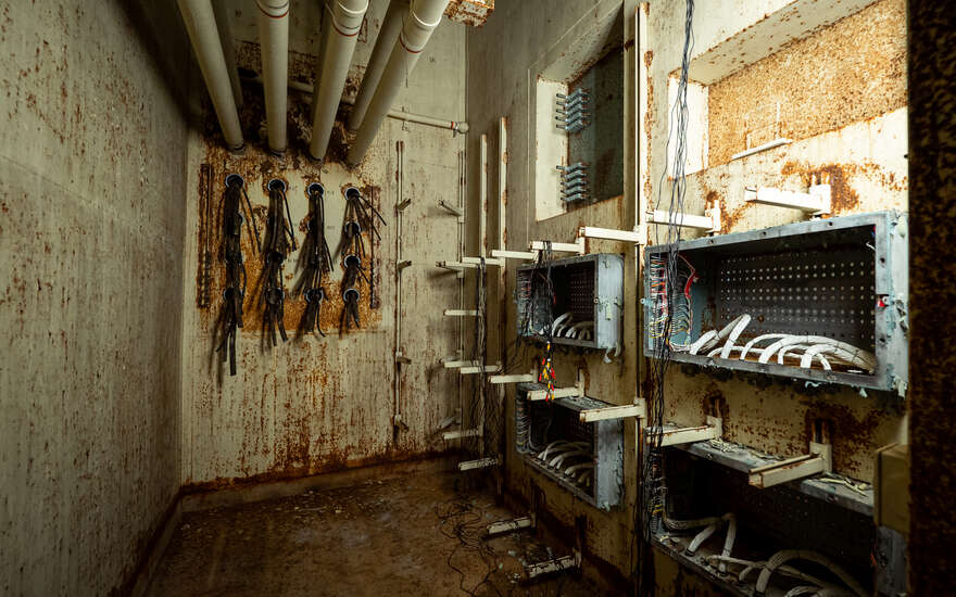 This room once connected the RSL-3 underground bunker to the nearby Sprint missile field.